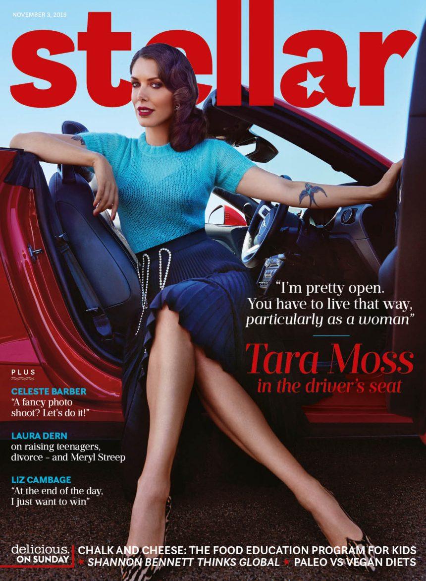 Tara Moss on cover of Stellar Magazine